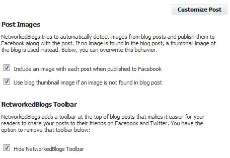 Networked Blogs Beiträge personalisieren