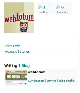 Das Blog hat verschiedene Einstellungsmöglichkeiten