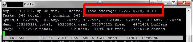 Serverauslastung nach Upgrade: alles im grünen Bereich