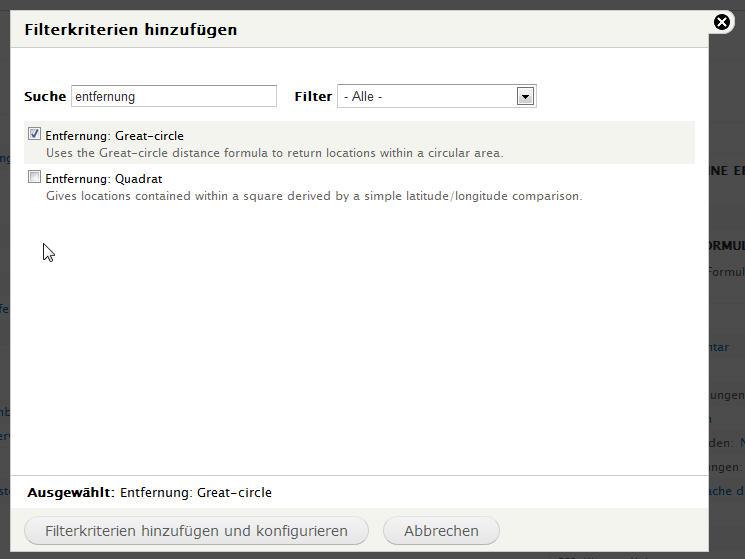 Filter für Umgebungssuche in OpenLayer hinzufügen