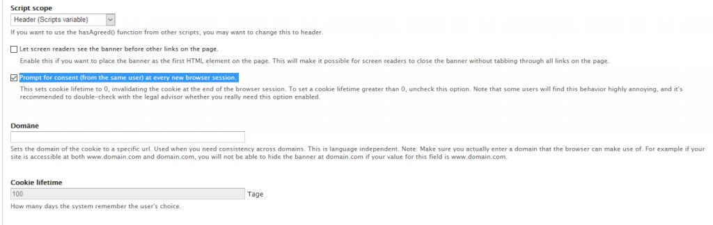 Matomo-Modul: cookie-agreed wird am Ende der Browser-Session gelöscht