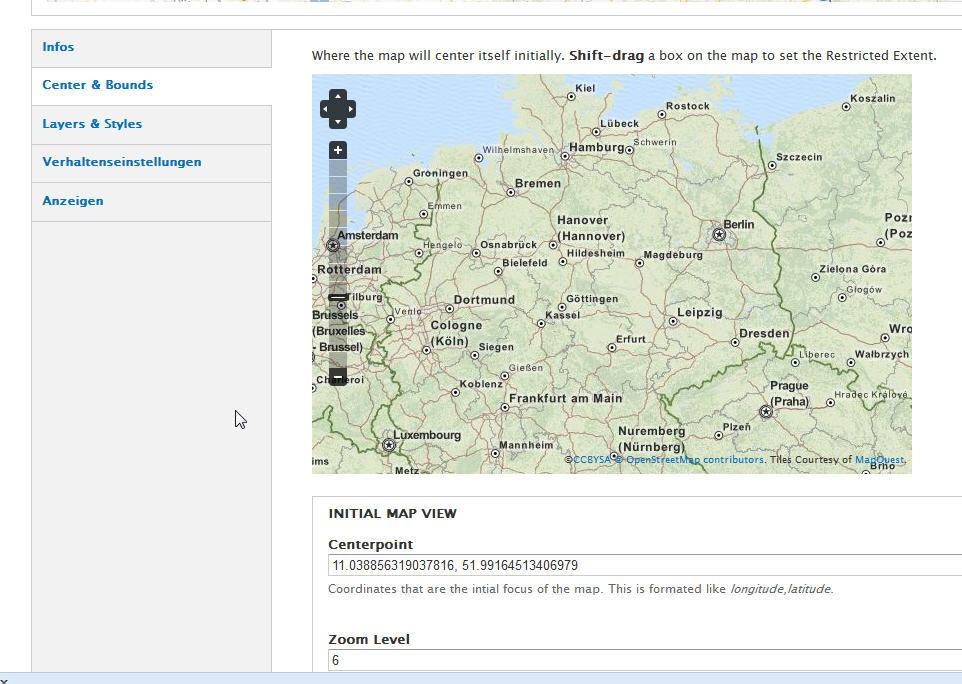 Openlayers-Karte erstellen 1