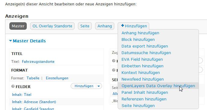 Dem View eine Ansicht  Openlayers Data Overlay hinzufügen